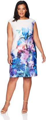 Julia Jordan Women's Plus-Size Placement Floral Sheath Dress