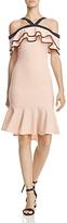 Aqua Cold-Shoulder Ruffle Dress - 100% Exclusive