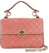 Valentino Rockstud Medium Quilted Suede Shoulder Bag