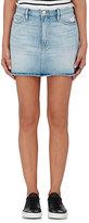 Frame Women's Le Mini Frayed Denim Skirt