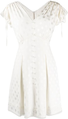Three floor V-neck polka dot pattern Alba dress