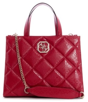 GUESS Dilla Quilted Logo Elite Society Satchel
