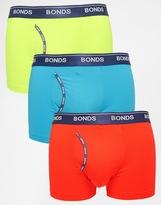 Bonds 3 Pack Guyfront Trunks In Microfibre - Multi