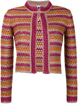 M Missoni loose knit blazer - women - Viscose/Metallic Fibre - 40