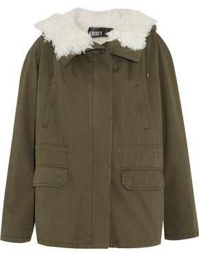 Yves Salomon Shearling-Paneled Cotton-Twill Jacket