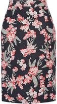 Jonathan Saunders Floral-Print Twill Skirt