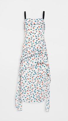 Jason Wu Asymmetric Flounce Mini Logo Dress