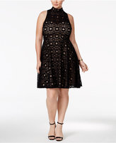 INC International Concepts Plus Size Lace Fit & Flare Dress, Only at Macy's