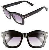 Tom Ford Women's 'Greta' 50Mm Sunglasses - Shiny Black/ Violet