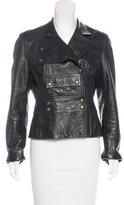Celine Snap-up Leather Jacket