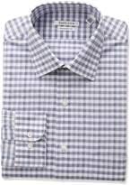 Van Heusen Men's Regular Fit Check Spread Collar Dress Shirt