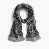 J.Crew Girls' leopard wool scarf