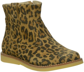 Elephantito Girls' Madison Ankle Boot (Tod/YTH) - Suede Leopard Leather - 11 Toddler