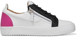 Giuseppe Zanotti Birel Zip-detailed Color-block Leather Sneakers