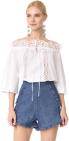 Temperley London Natura Lace Shirt
