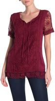 Forgotten Grace Short Sleeve Crochet Blouse