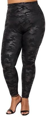 Spanx Plus Size Faux Leather Camo Leggings