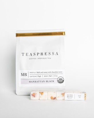 Express Teaspressa Manhattan Black Tea Pouch + Rose Mini Luxe Sugar Cube Set