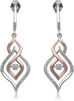 FINE JEWELRY Love in Motion 1/3 CT. TW. Diamond 10K Two-Tone Gold Teardrop Drop Earrings