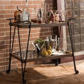 Baxton Studio Alera Rustic Industrial Style Antique Black Textured Finish Metal Distressed Ash Wood