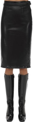 J Brand Faux Leather Midi Skirt
