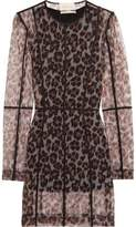 Christopher Kane Leopard-Print Stretch-Mesh Mini Dress