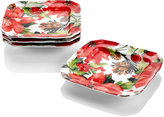 222 Fifth Winter Poinsettia Dinnerware Collection 4-Pc. Appetizer Plates Set
