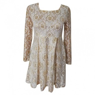 Max Mara Gold Lace Dress for Women Vintage