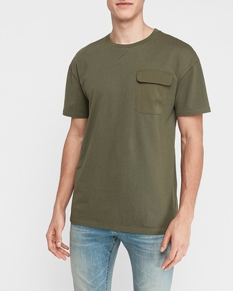 Express Oversized Short Sleeve Pocket T-Shirt