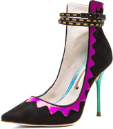 Webster Sophia Roka 2 Suede Heels in Black Multi