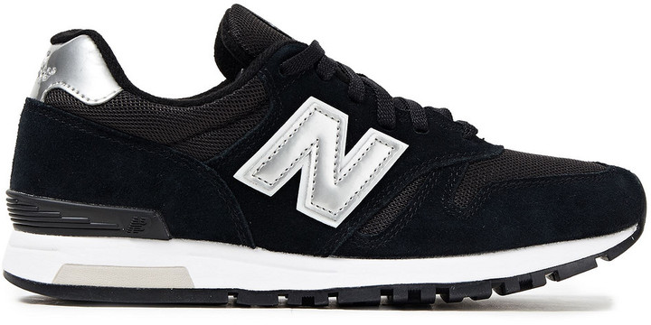 New Balance Metallic Leather-trimmed Suede And Mesh Sneakers