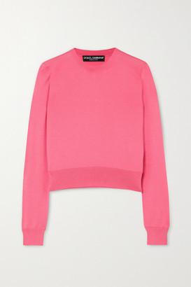 Dolce & Gabbana Silk Sweater - Pink