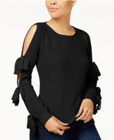 Ultra Flirt Juniors' Cold-Shoulder Sweater