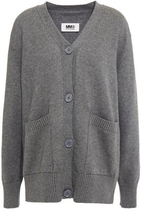 MM6 MAISON MARGIELA Vinyl-trimmed Cotton And Wool-blend Cardigan