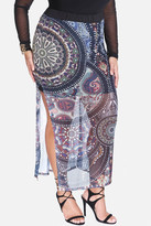 Fashion to Figure Cleo Medallion Print Maxi Skirt
