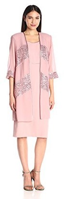 Le Bos Women's Sequin Trim Jacket and Dress