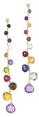 Marco Bicego 18K Yellow Gold Paradise Teardrop Linear Gemstone Earrings