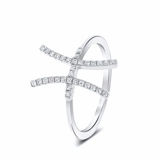 Cosanuova H Diamond Ring 18k White Gold
