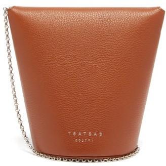 Tsatsas Olive Leather Bucket Bag - Tan