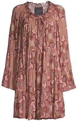 Johnny Was Bellick Ruffle Mini Dress