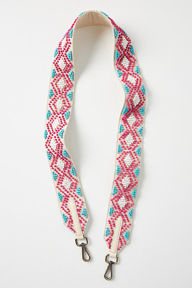 Anthropologie Geo Beaded Bag Strap By in Blue Size ALL
