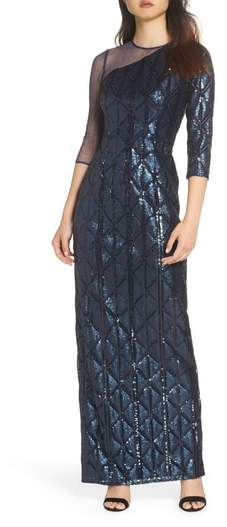 Adrianna Papell Sequin Embellished Gown