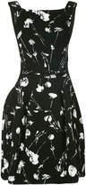 Oscar de la Renta tie back mini dress