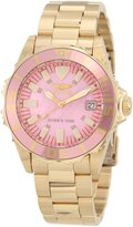 Invicta Women's Pro Diver 18k Gold Plated Watch 10624
