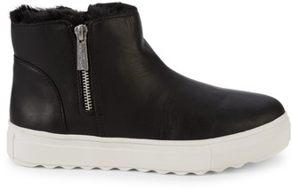 J/Slides Poppy Faux Fur-Lined Leather Platform Boots