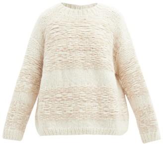 LAUREN MANOOGIAN Slip-stitched Alpaca-blend Sweater - White Multi