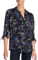 Ivanka Trump Floral Three Quarter Sleeve Blouse