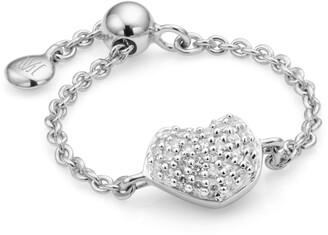Monica Vinader Nura Mini Heart Friendship Chain Ring