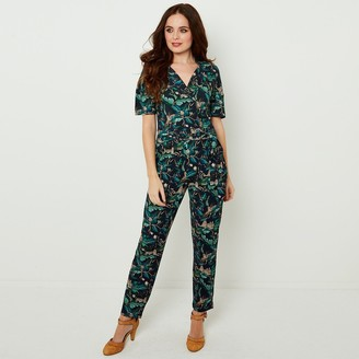 Joe Browns Short-Sleeved Jumpsuit with Shirt-Collar