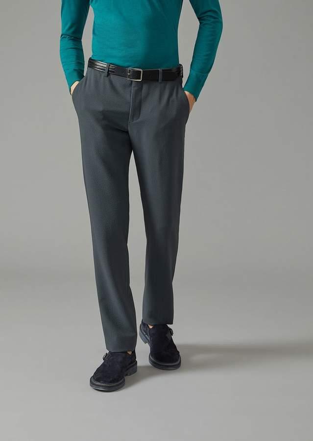 Giorgio Armani Trousers In Seersucker
